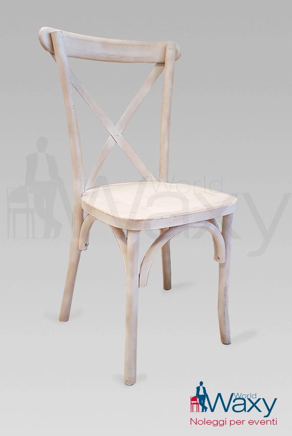 SEDIE: sedia croce bianca decapata