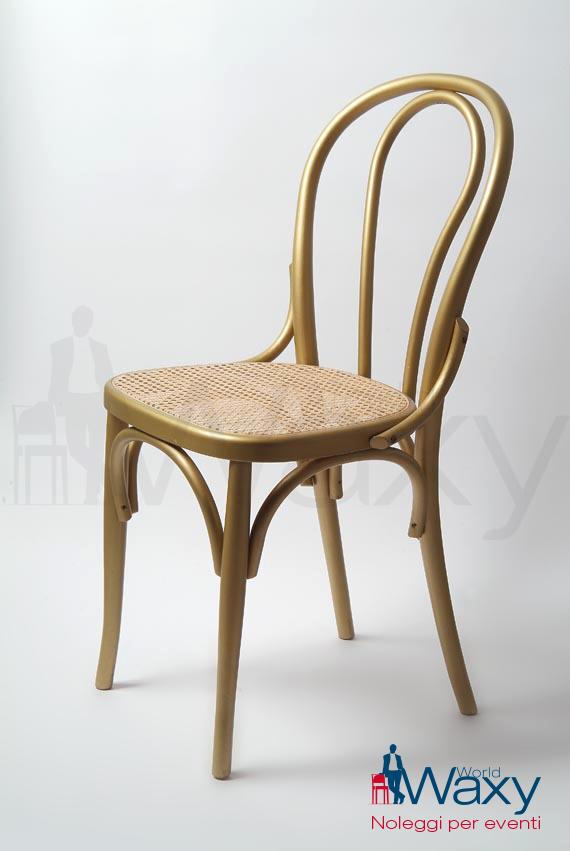 SEDIE: Thonet in legno laccato oro