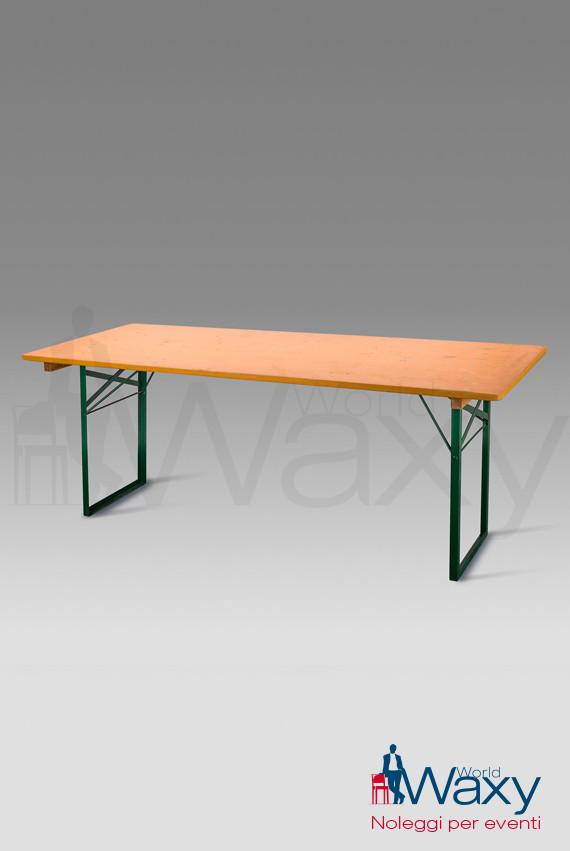 Tavoli Tavolo Buffet Cm 160x80 Piano In Legno Grezzo