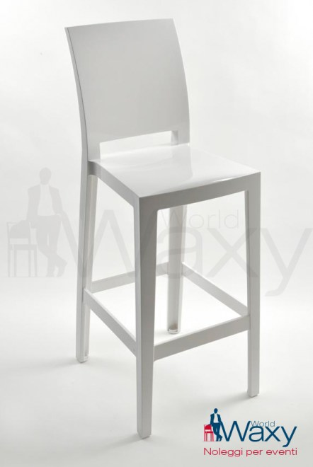 Sgabello kartell h. 75 cm. mod. One More Please in policarb. col. in massa.bianco